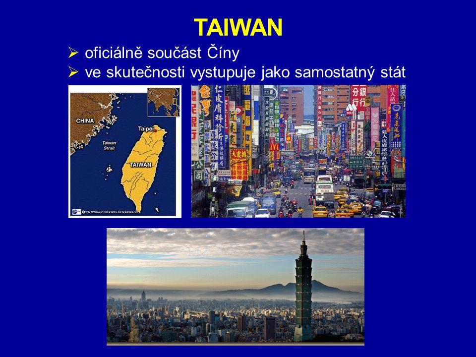 ZÁKLADNÍ ÚDAJE TAIWAN oficiálně součást Číny
