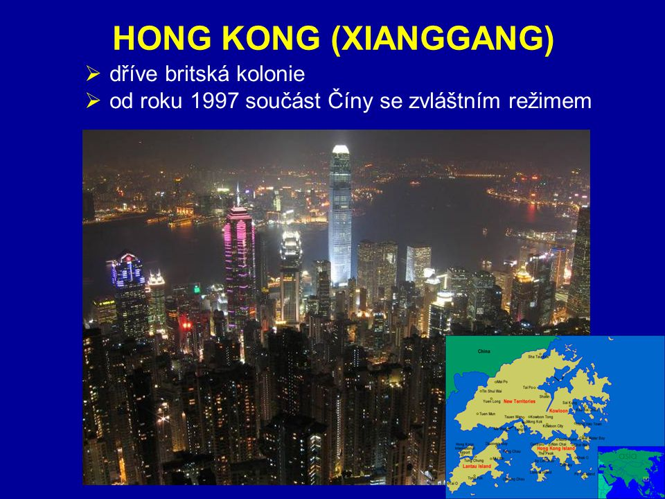HONG KONG (XIANGGANG) ZÁKLADNÍ ÚDAJE