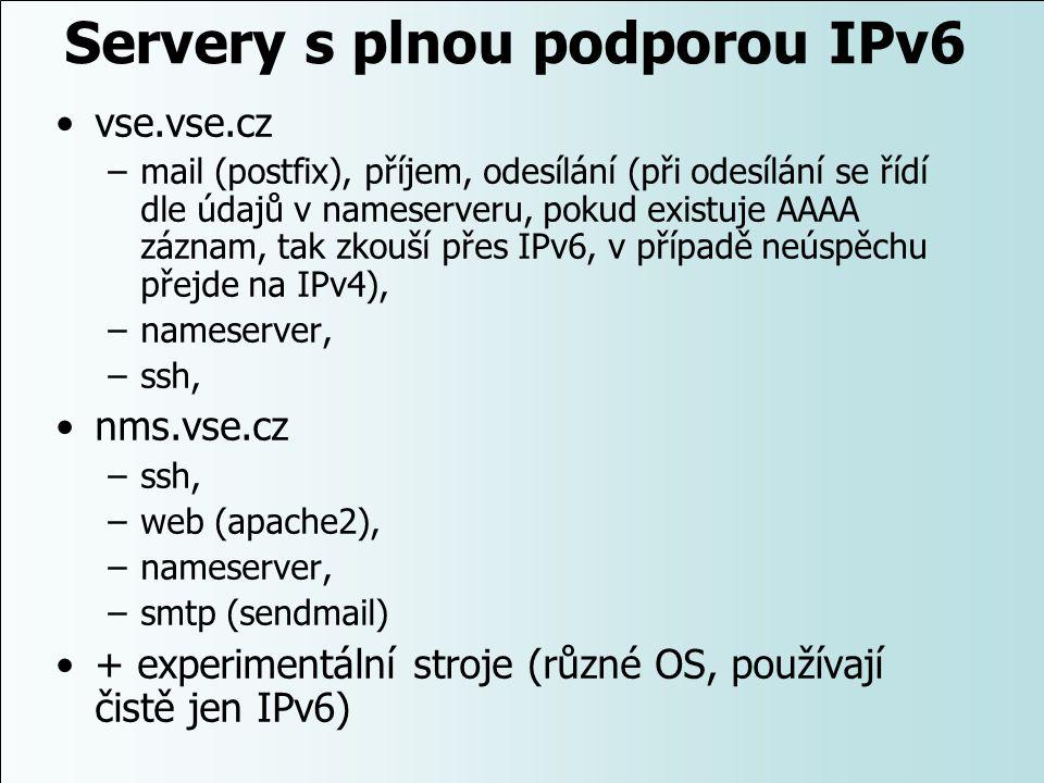 Servery s plnou podporou IPv6