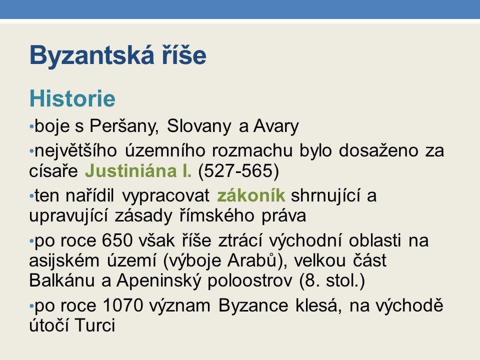 Byzantská říše Historie boje s Peršany, Slovany a Avary