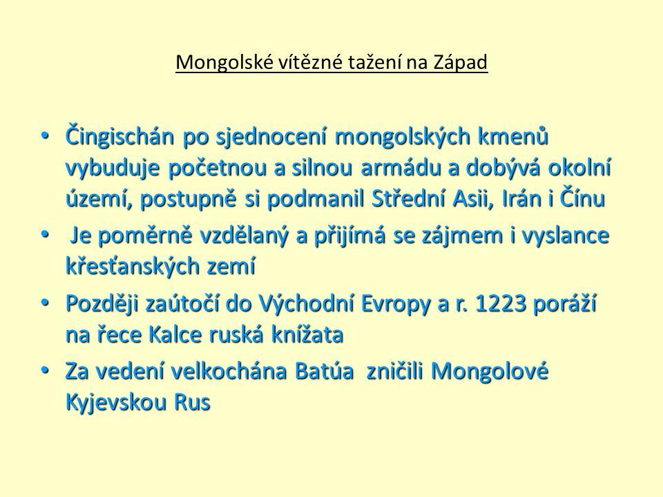 Mongolské vítězné tažení na Západ