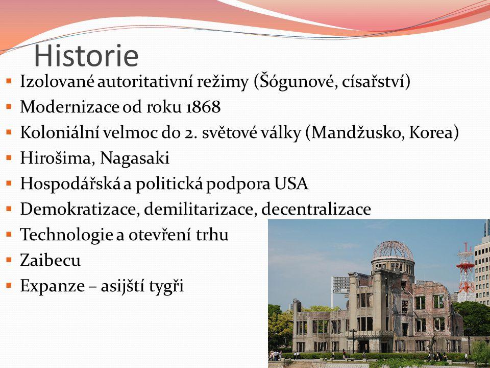 Historie Izolované autoritativní režimy (Šógunové, císařství)