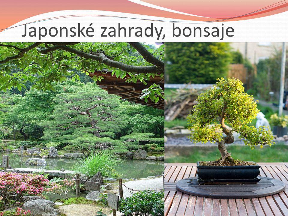 Japonské zahrady, bonsaje