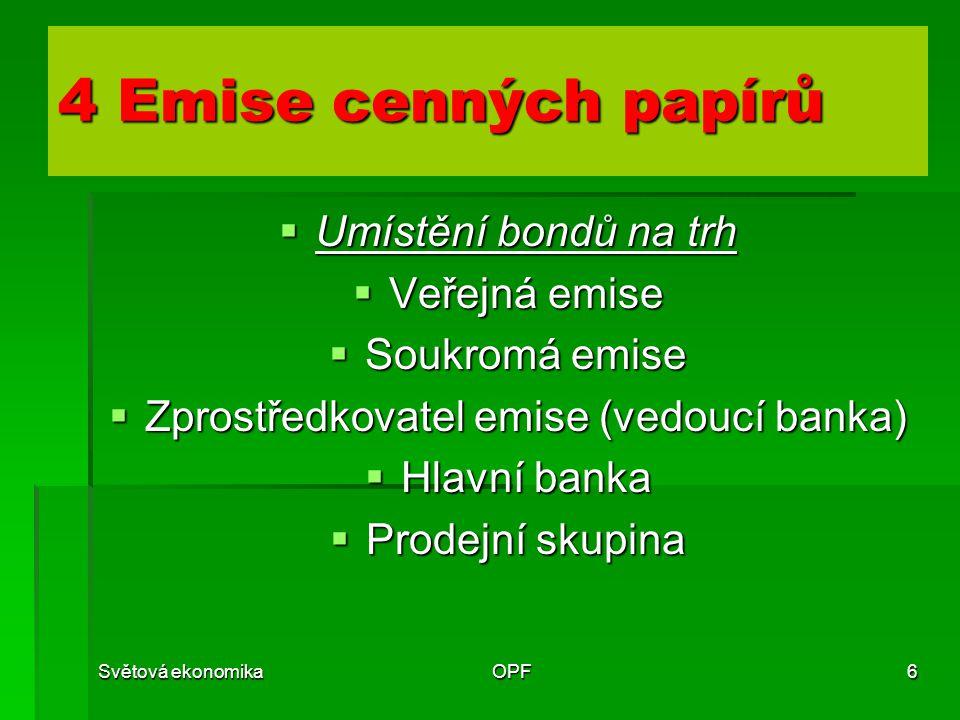 Zprostředkovatel emise (vedoucí banka)