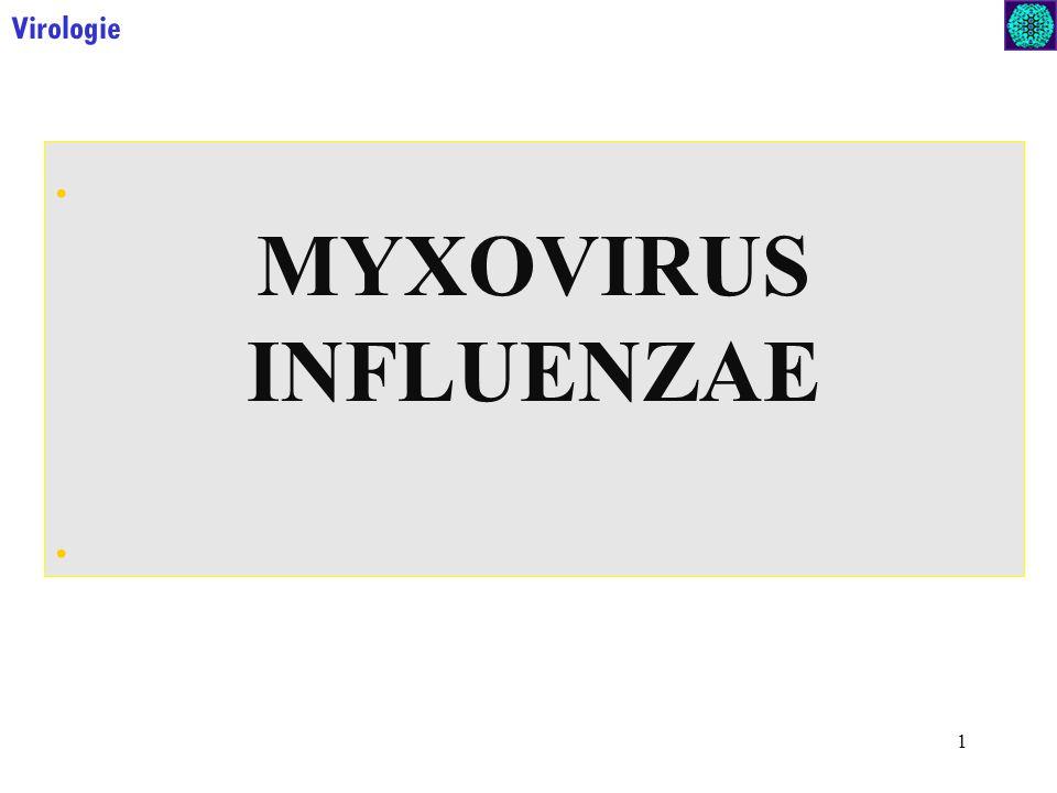 Virologie . MYXOVIRUS INFLUENZAE