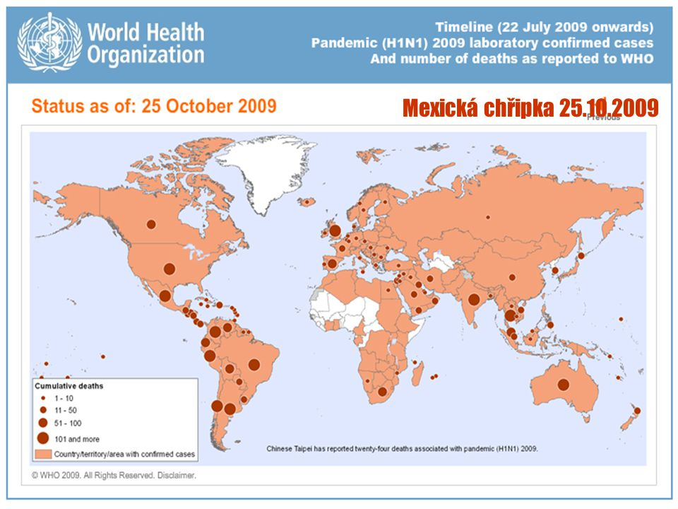 Mexická chřipka 25.10.2009