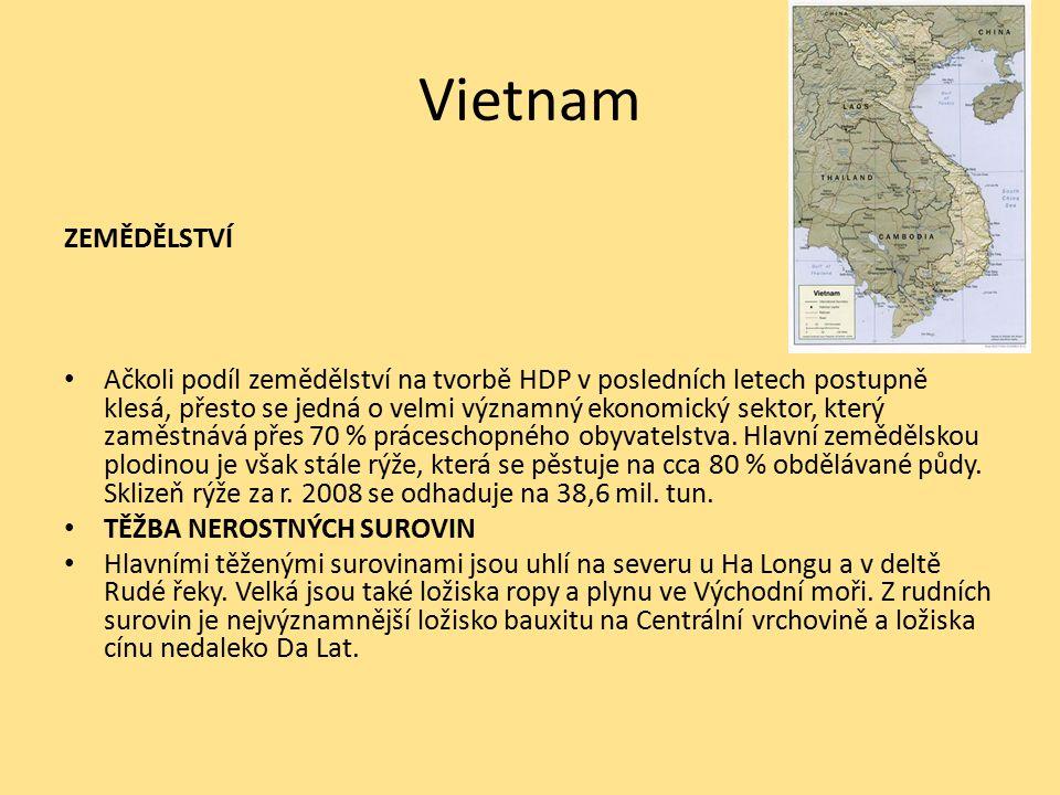 Vietnam ZEMĚDĚLSTVÍ.