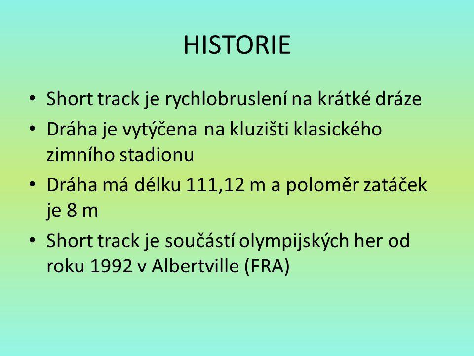HISTORIE Short track je rychlobruslení na krátké dráze