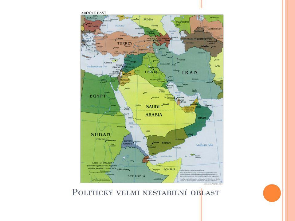 Politicky velmi nestabilní oblast