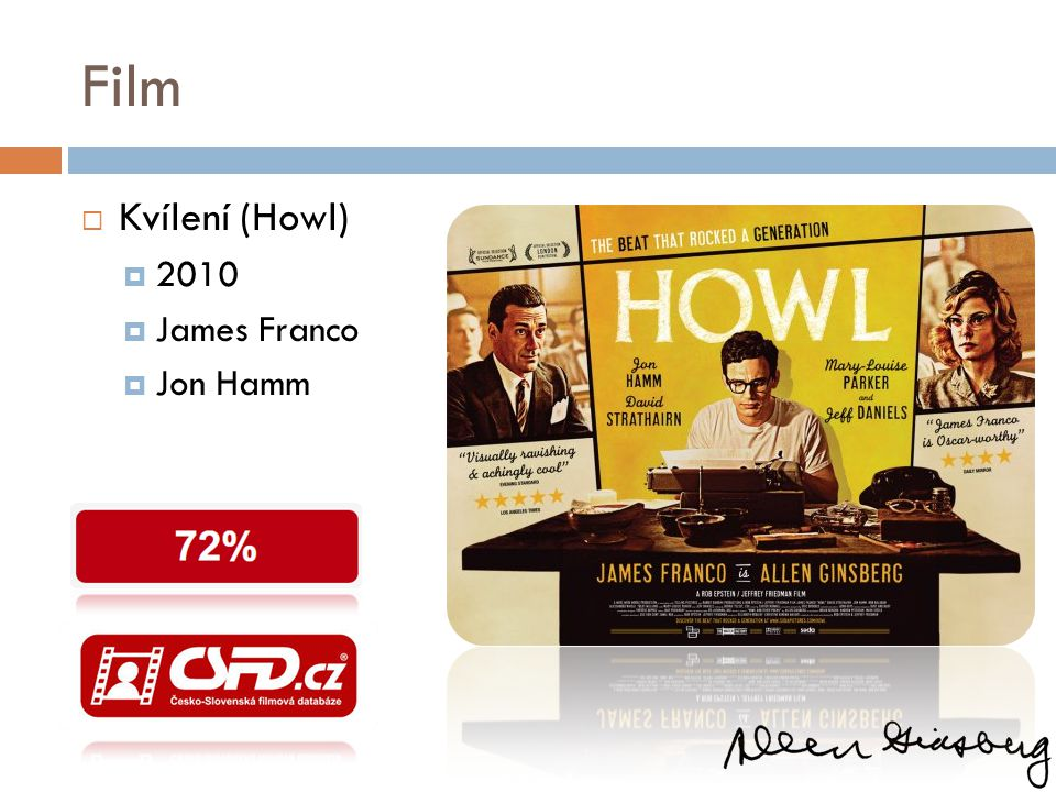 Film Kvílení (Howl) 2010 James Franco Jon Hamm