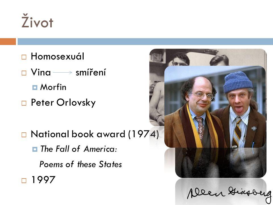 Život Homosexuál Vina smíření Peter Orlovsky