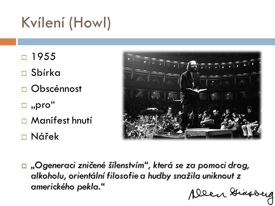 """Kvílení (Howl) 1955 Sbírka Obscénnost """"pro Manifest hnutí Nářek"""