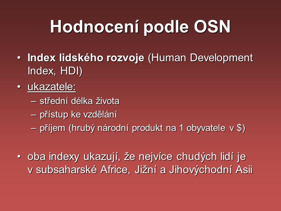 Hodnocení podle OSN Index lidského rozvoje (Human Development Index, HDI) ukazatele: střední délka života.