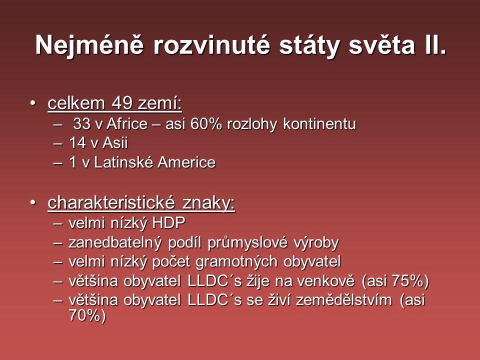 Nejméně rozvinuté státy světa II.