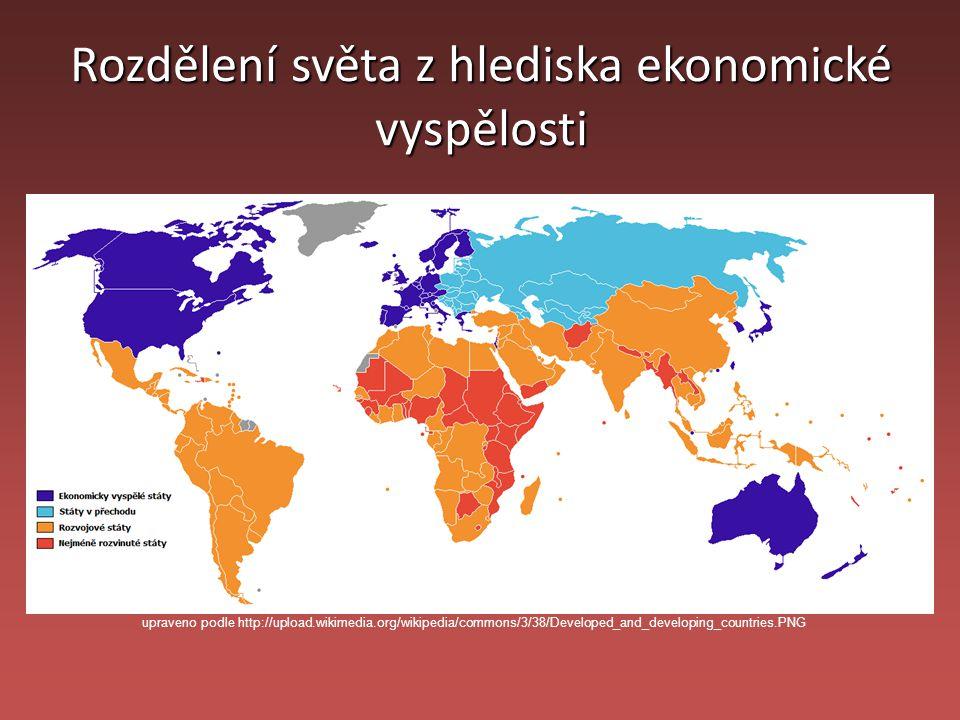 Rozdělení světa z hlediska ekonomické vyspělosti