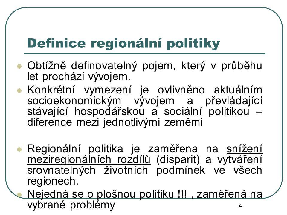 Definice regionální politiky