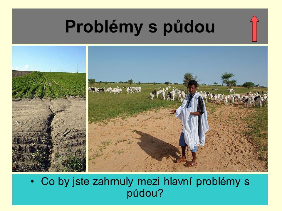 Co by jste zahrnuly mezi hlavní problémy s půdou