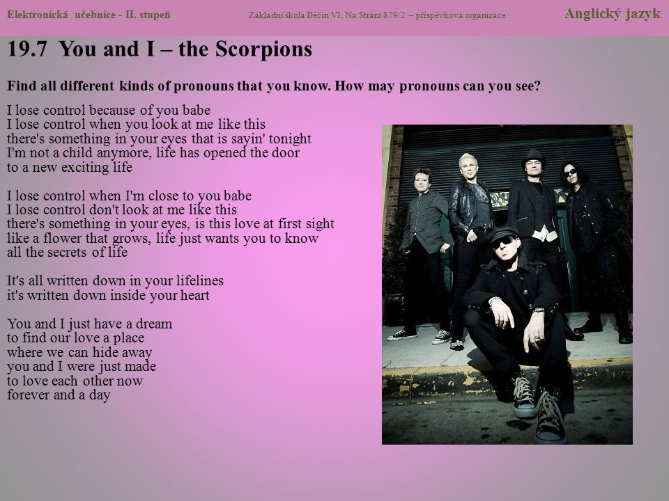 19.7 You and I – the Scorpions