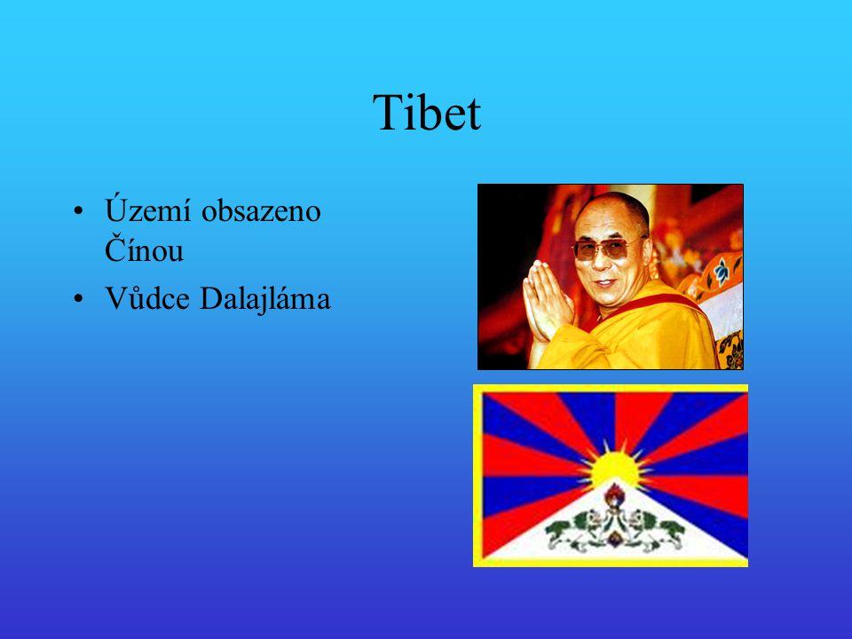 Tibet Území obsazeno Čínou Vůdce Dalajláma