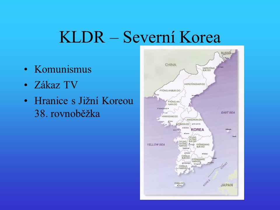 KLDR – Severní Korea Komunismus Zákaz TV