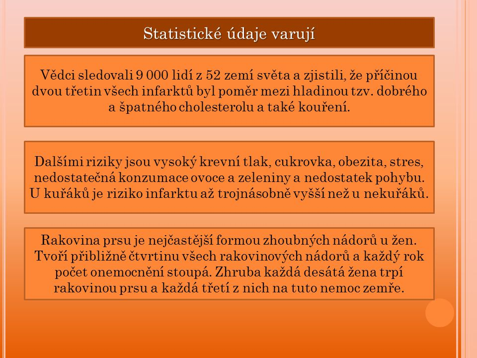 Statistické údaje varují