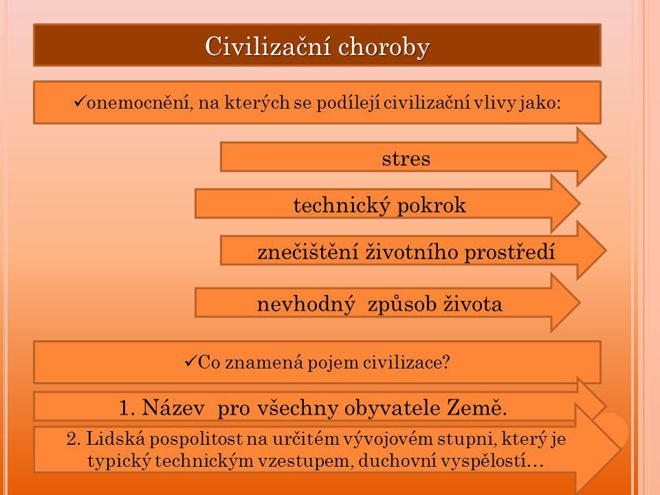 Civilizační choroby stres technický pokrok