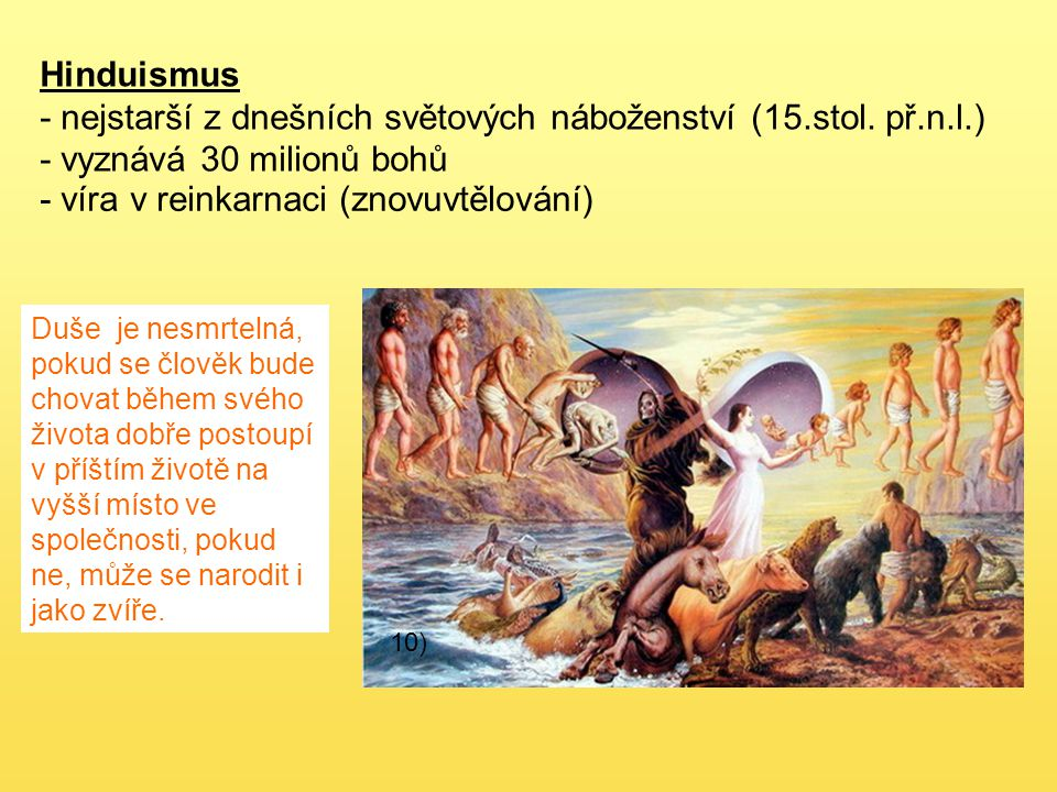 - nejstarší z dnešních světových náboženství (15.stol. př.n.l.)
