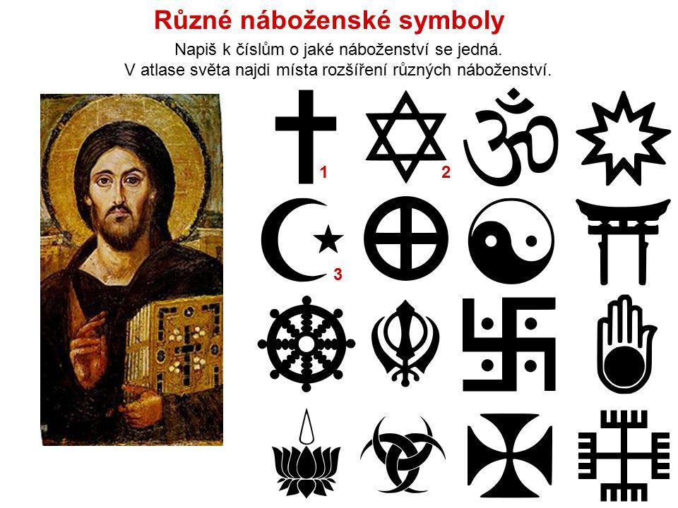 Různé náboženské symboly