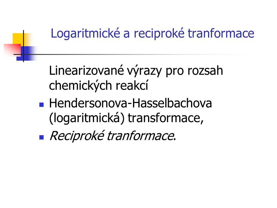 Logaritmické a reciproké tranformace