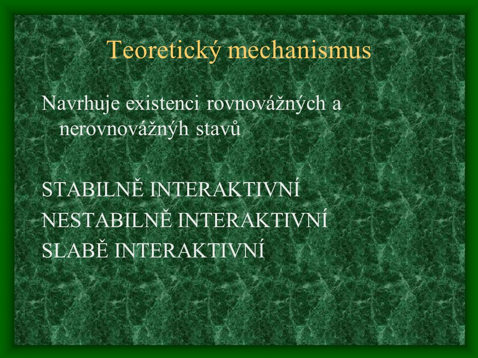 Teoretický mechanismus