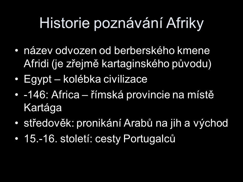 Historie poznávání Afriky