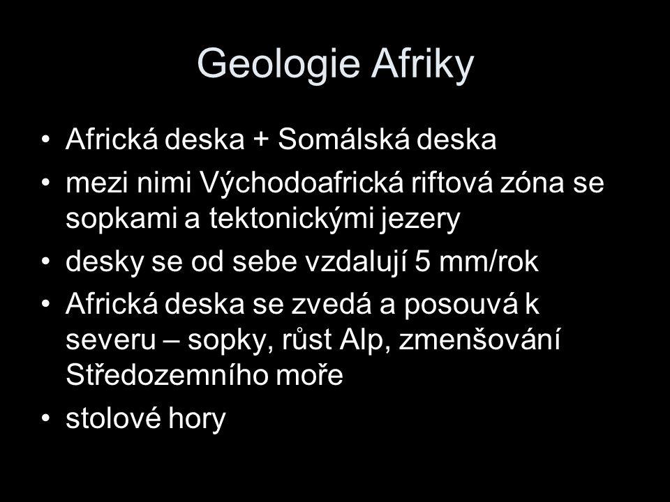 Geologie Afriky Africká deska + Somálská deska