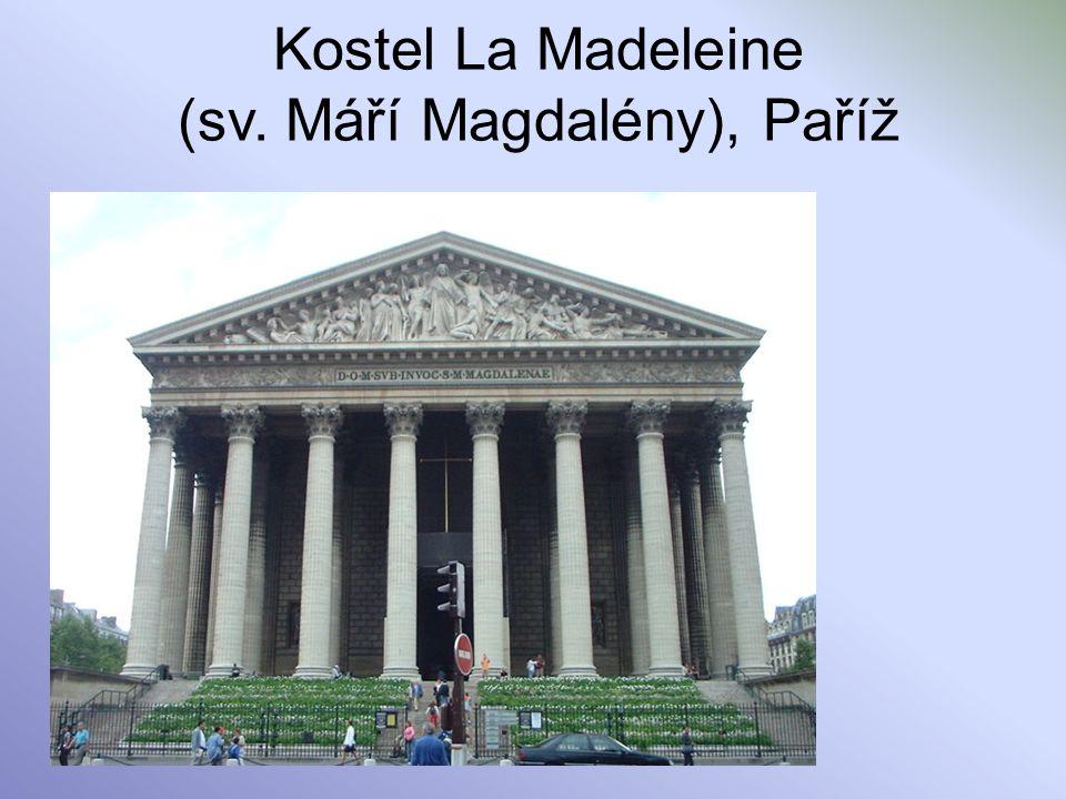 Kostel La Madeleine (sv. Máří Magdalény), Paříž