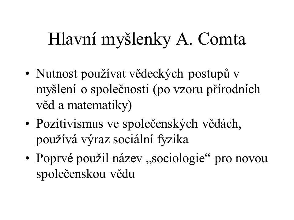 Hlavní myšlenky A. Comta