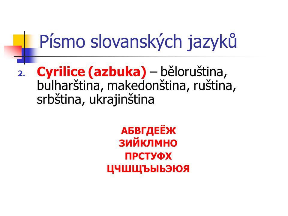 Písmo slovanských jazyků