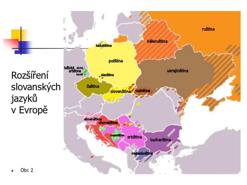 Rozšíření slovanských jazyků v Evropě Obr. 2