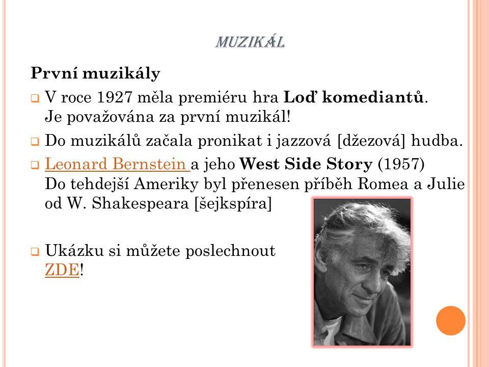 muzikál První muzikály