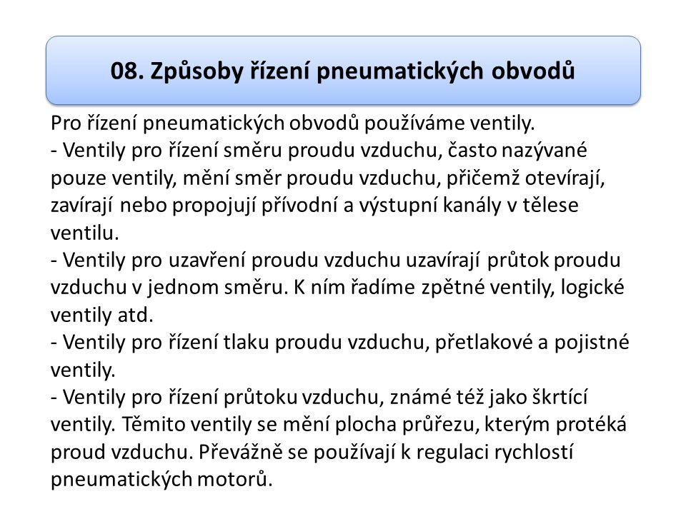08. Způsoby řízení pneumatických obvodů