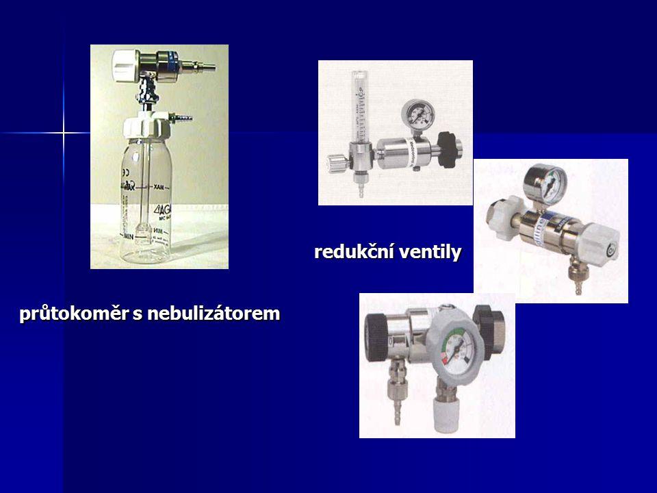redukční ventily průtokoměr s nebulizátorem