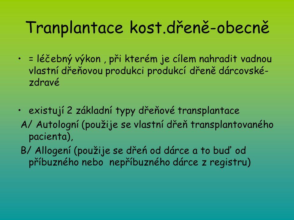 Tranplantace kost.dřeně-obecně