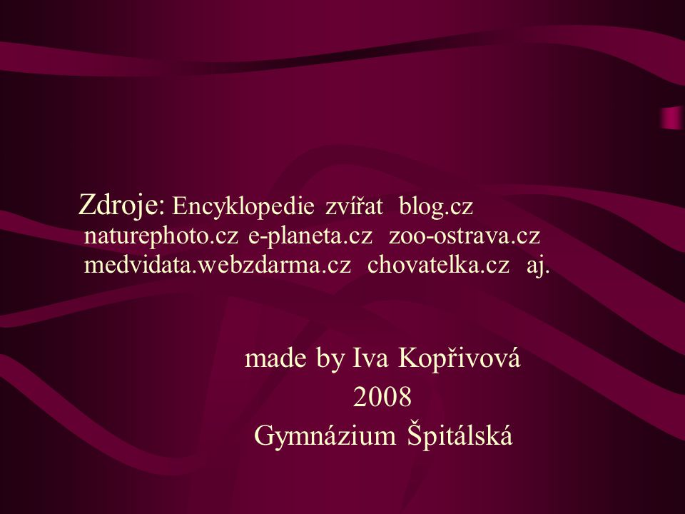 2008 Gymnázium Špitálská made by Iva Kopřivová