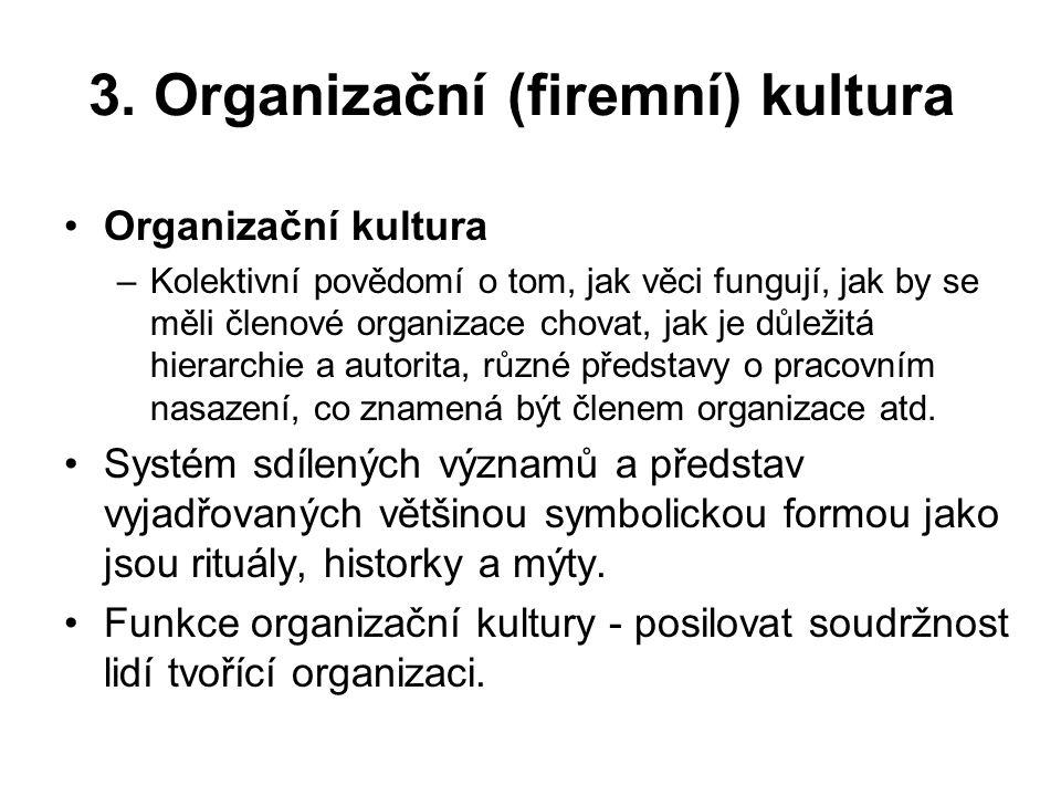 3. Organizační (firemní) kultura