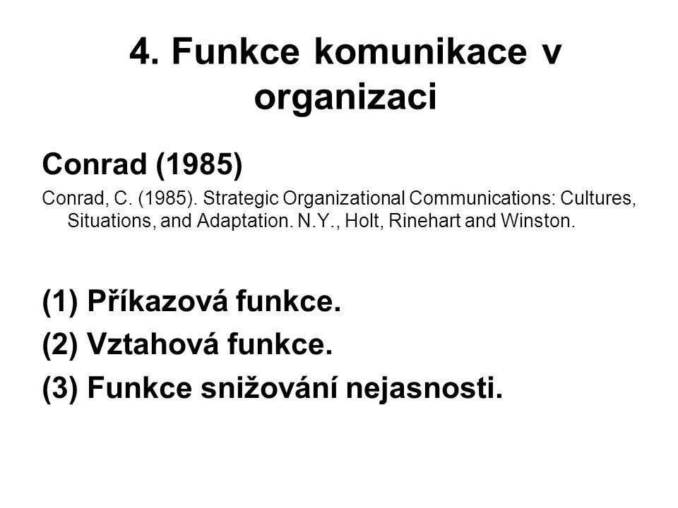 4. Funkce komunikace v organizaci
