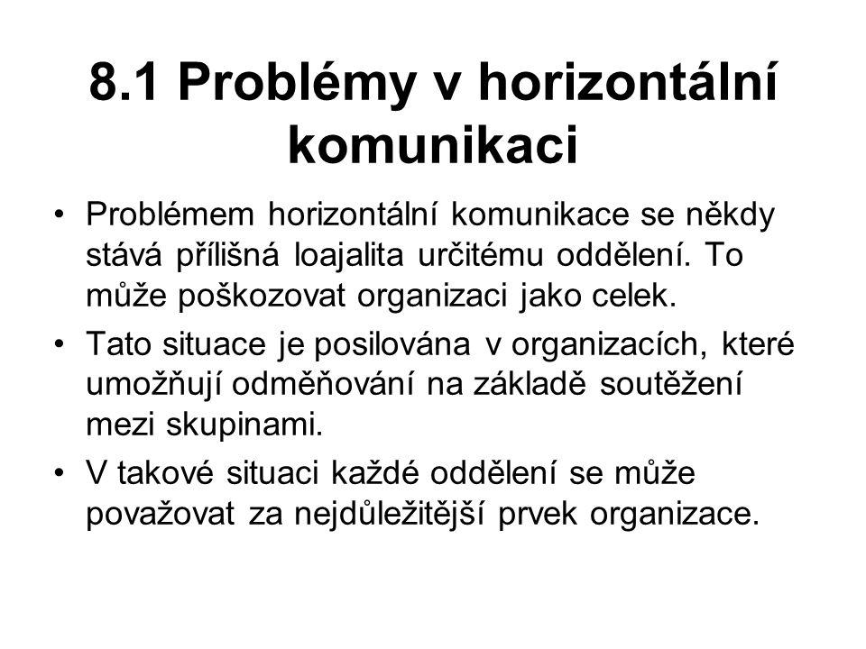 8.1 Problémy v horizontální komunikaci