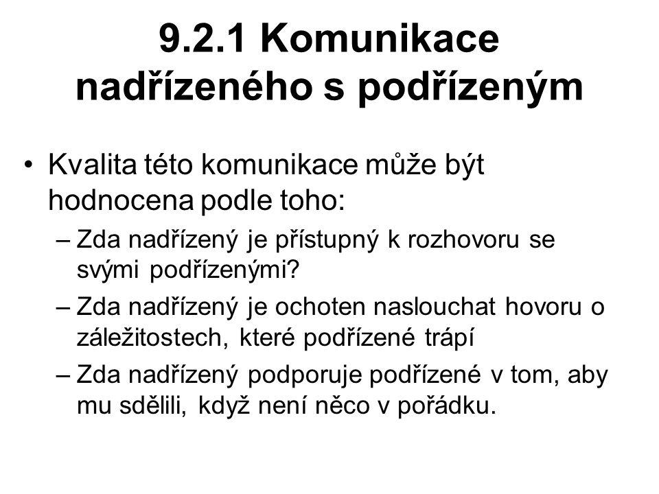 9.2.1 Komunikace nadřízeného s podřízeným