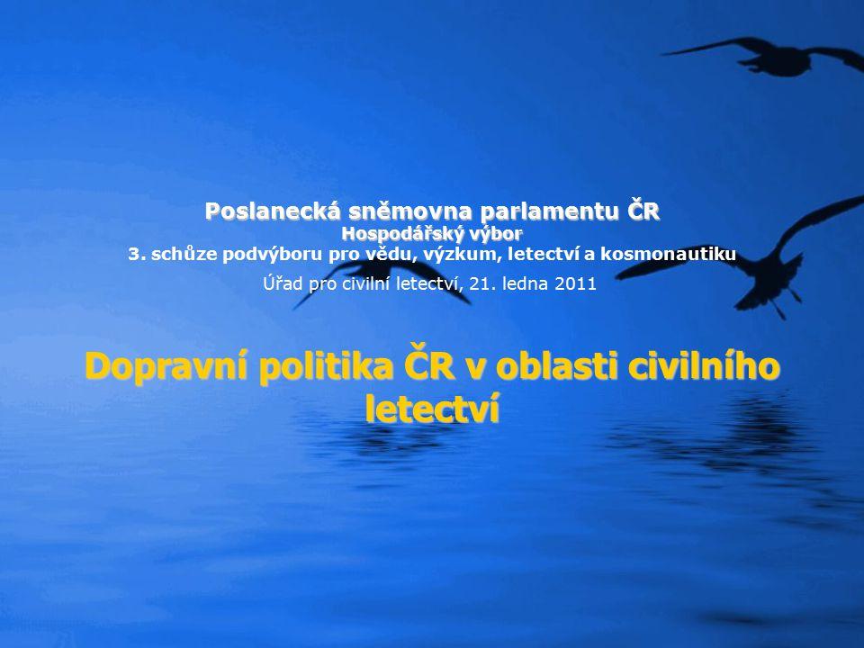 Dopravní politika ČR v oblasti civilního letectví