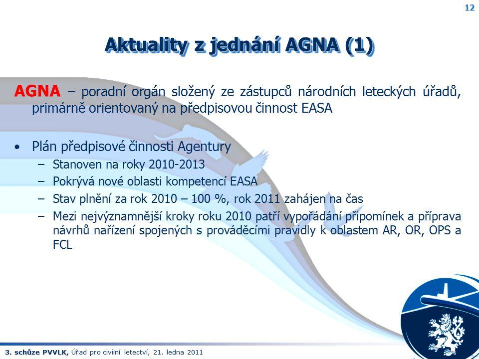 Aktuality z jednání AGNA (1)