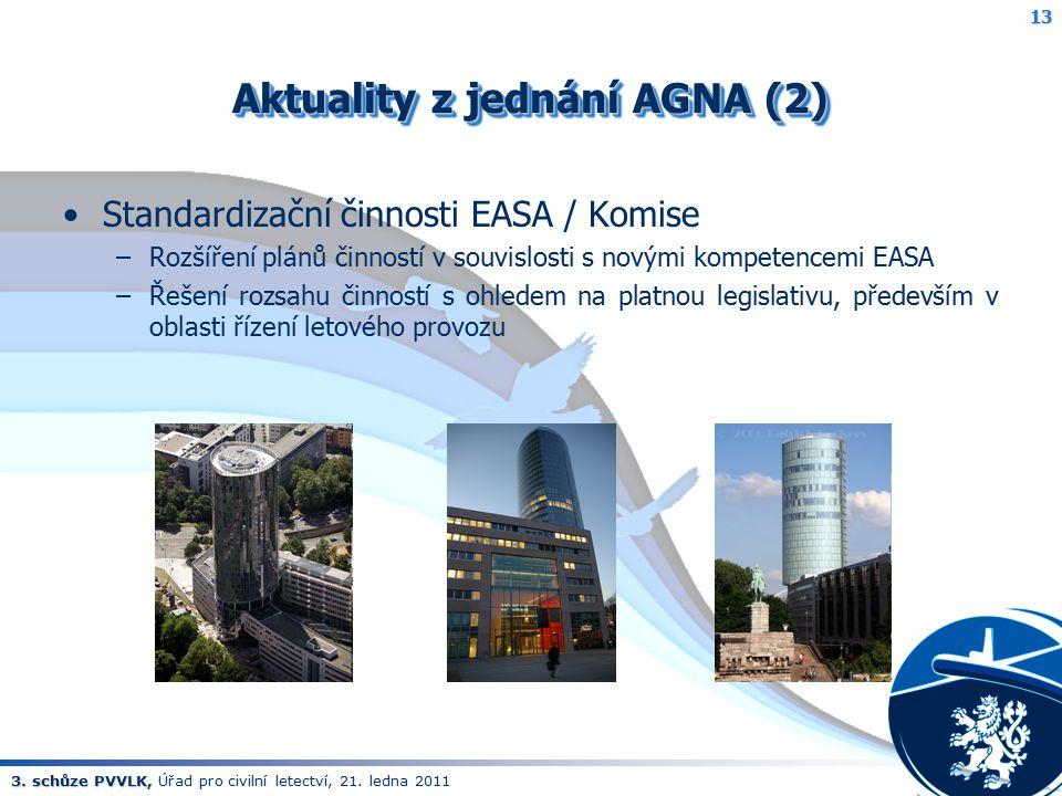 Aktuality z jednání AGNA (2)