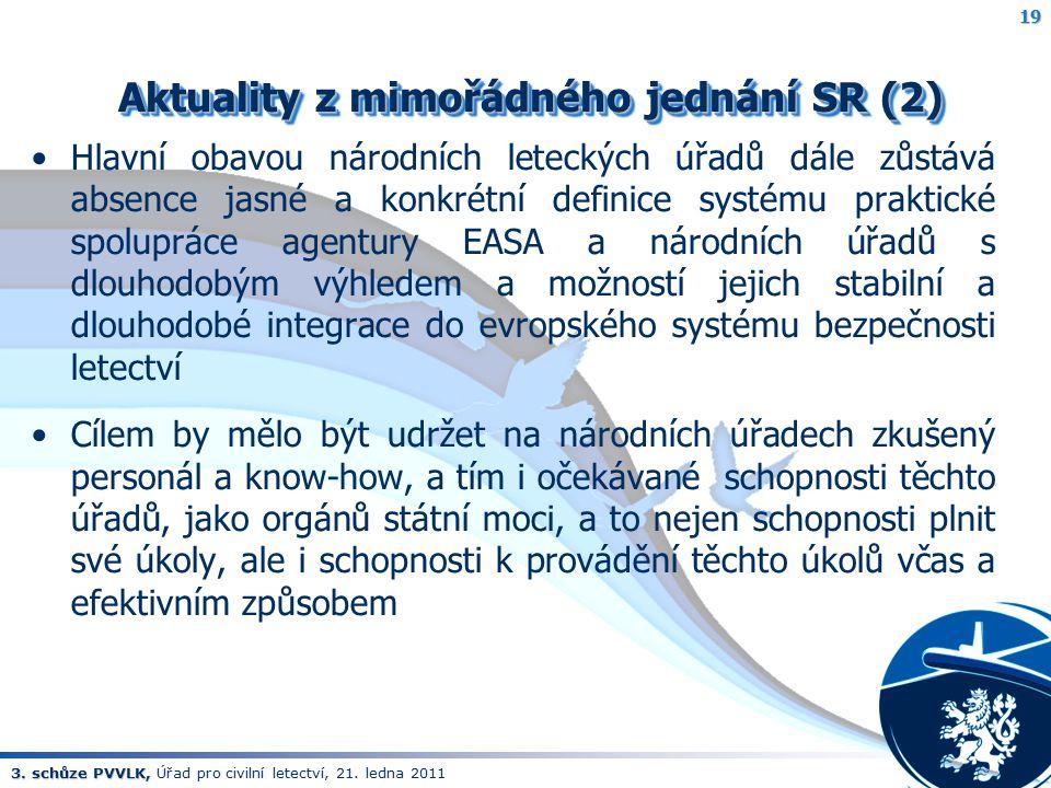 Aktuality z mimořádného jednání SR (2)