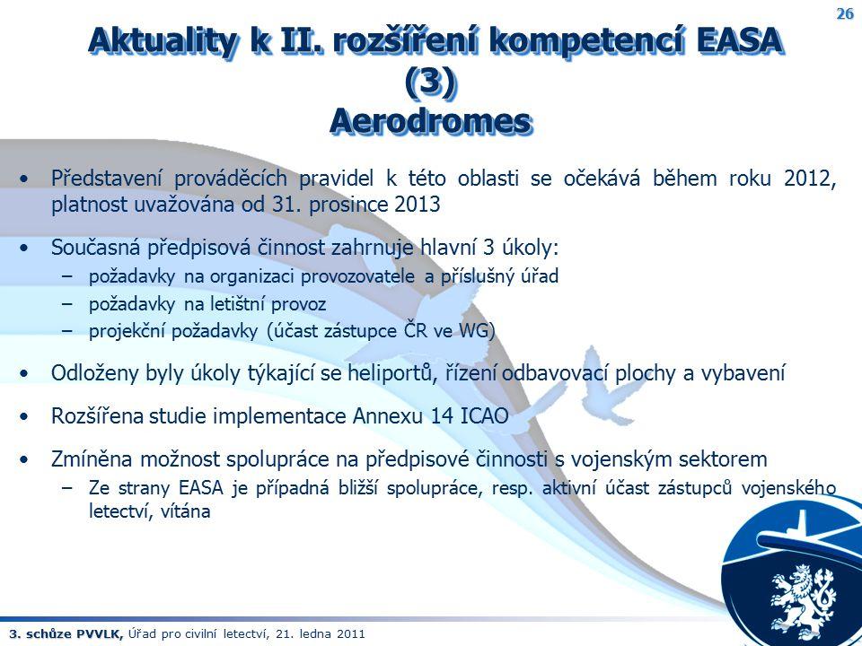 Aktuality k II. rozšíření kompetencí EASA (3) Aerodromes